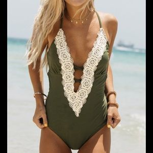 Green Lacy One Piece